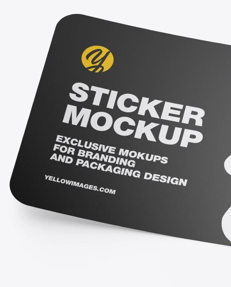 Matte Sticker Mockup