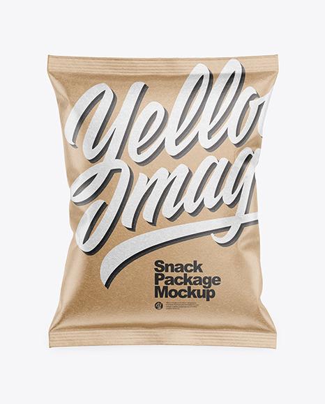 Download Kraft Snack Package PSD Mockup