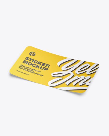 Download Matte Sticker PSD Mockup