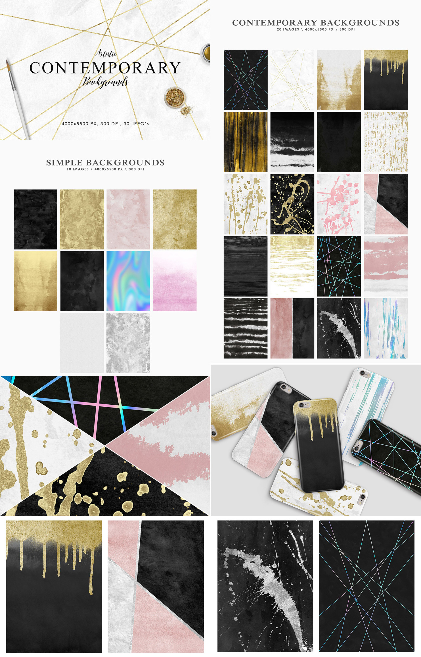 Aesthetic Backgrounds Bundle