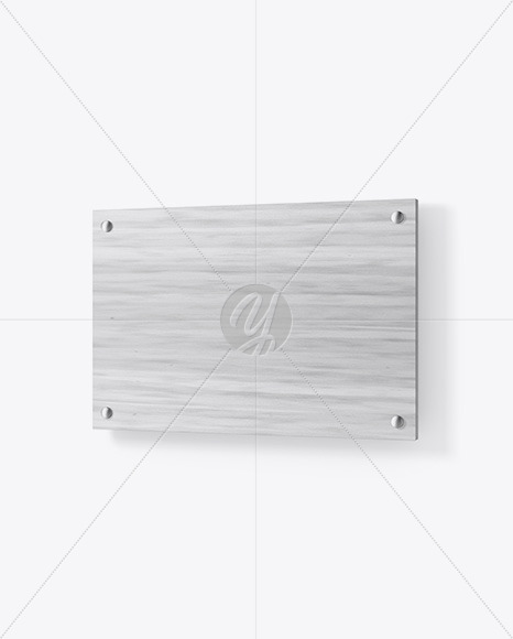 Wooden Nameplate Mockup In Object Mockups On Yellow Images