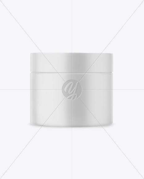 Closed Matte Plastic Cosmetic Jar Mockup