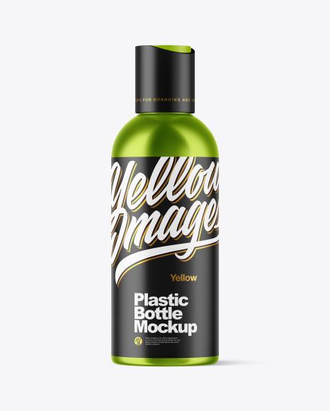 Download Metallized Plastic Bottle PSD Mockup