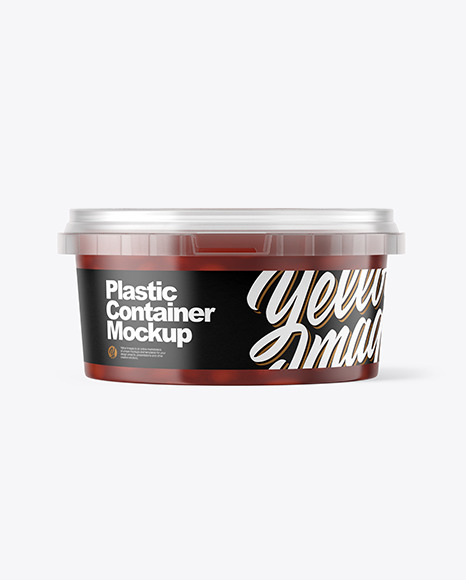 Download Plastic Container with Beans PSD Mockup