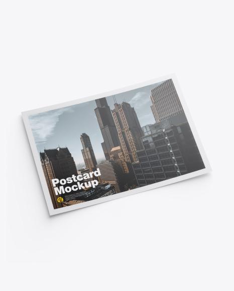 Download Matte A5 Postcard PSD Mockup