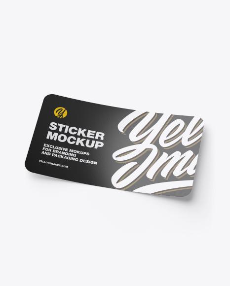 Download Glossy Sticker PSD Mockup