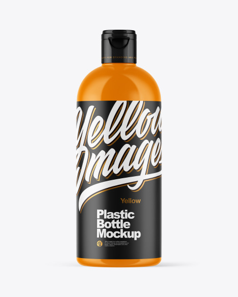 Download Glossy Plastic Bottle PSD Mockup