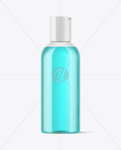 Clear Plastic Bottle Mockup