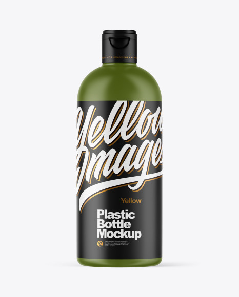 Download Matte Plastic Bottle PSD Mockup