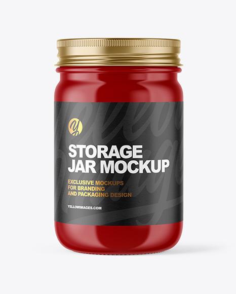 Download Glossy Jar PSD Mockup