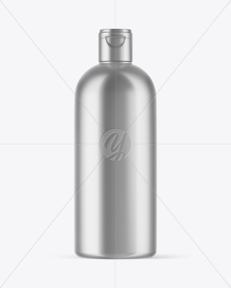Metallized Plastic Bottle Mockup
