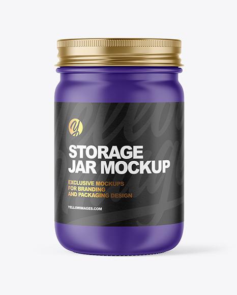 Download Matte Jar PSD Mockup