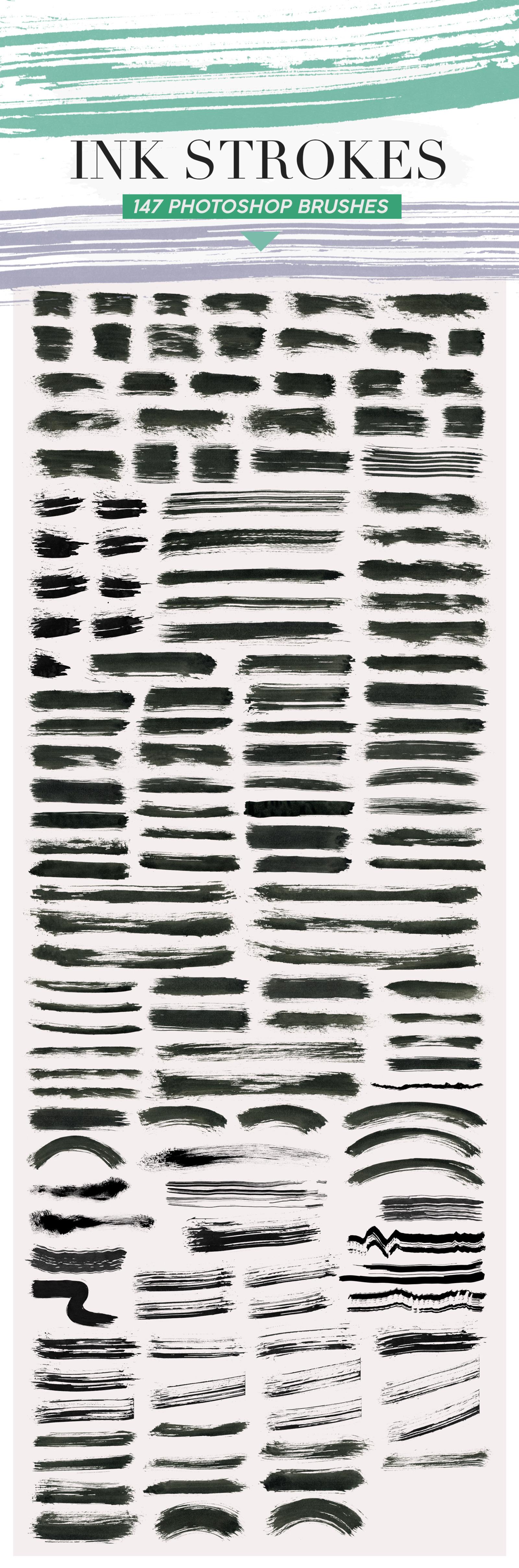 487 Ink Shapes Photoshop Brushes