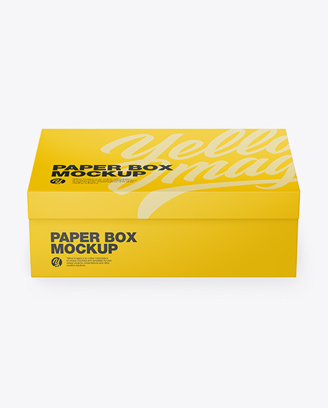 Download Matte Paper Box Front View PSD Mockup