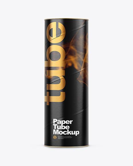 Download Glossy Paper Tube PSD Mockup