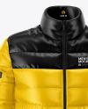 Men's Down Jacket Mockup - Front View