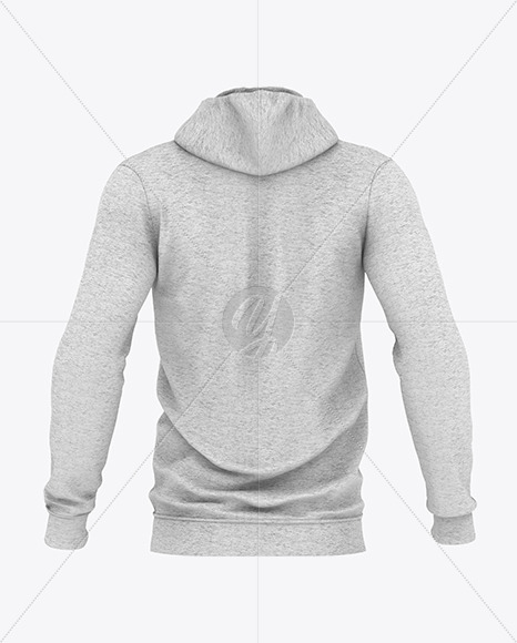 Download Melange Mens Hoodie Mockup Yellowimages