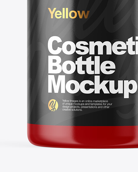 Glossy Cosmetic Bottle Mockup