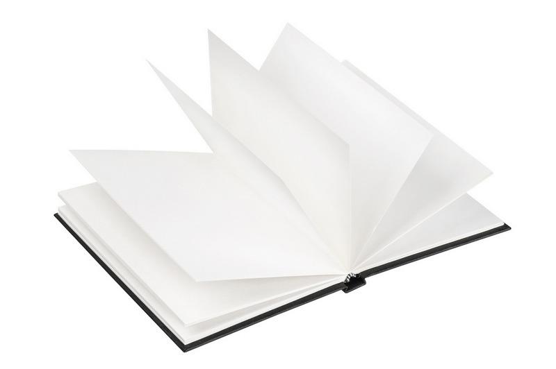 Black book mockup isolated on white