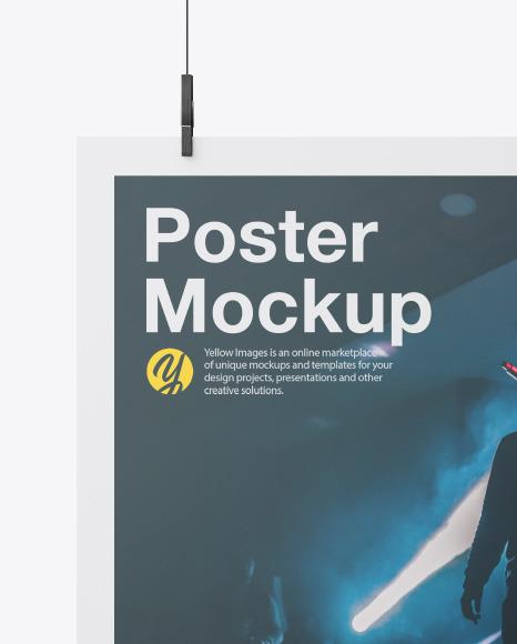 Matte A2 Poster Mockup