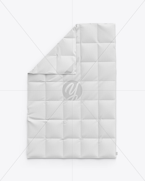 Quilt Blanket Mockup - Top View