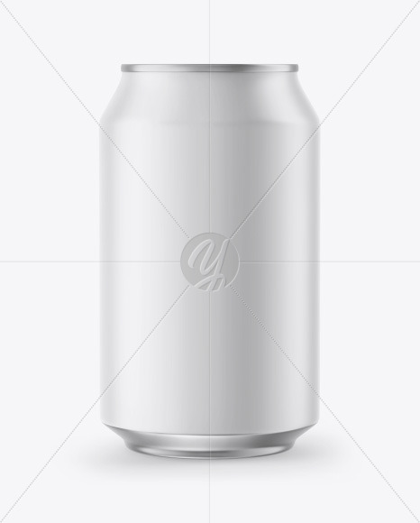 Metallic Can w/ Matte Finish Mockup