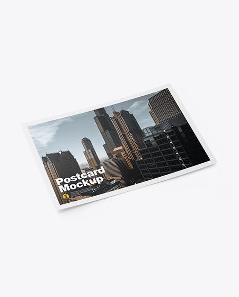 Paper A5 Postcard Mockup