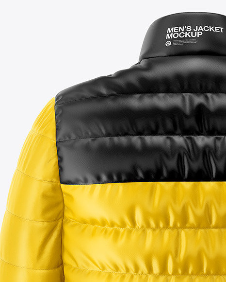 Men's Down Jacket Mockup - Back View