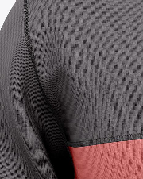 Three Quarter Zipped Sweatshirt Mockup - Front View Of Pullover