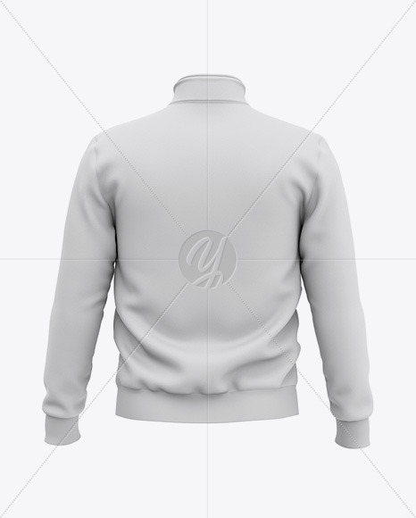 Three Quarter Zipped Sweatshirt Mockup - Back View