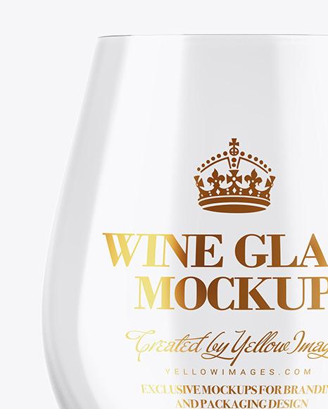 Empty Wine Glass Mockup