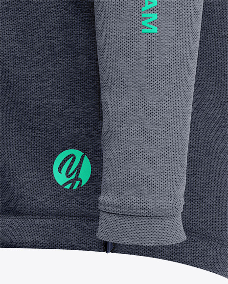 Basketball Heather Hoodie Mockup - Side View