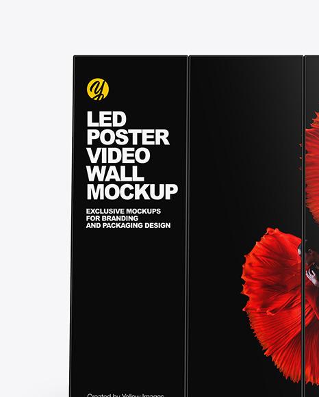 LED Poster Video Wall Mockup