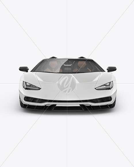 Super Car Mockup - Front View - Yellowimages Mockups