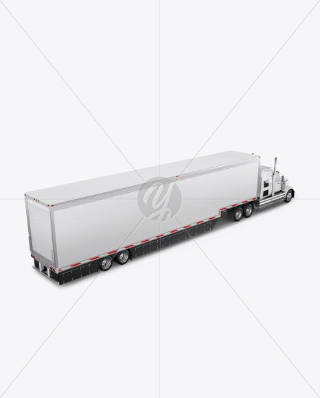 Truck Mockup - Half Side View (High-Angle Shot) - Yellowimages Mockups