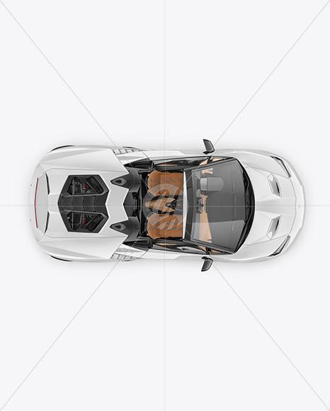Super Car Mockup - Top View - Yellowimages Mockups