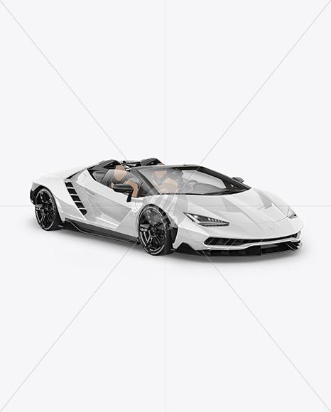 Super Car Mockup - Half Side View - Yellowimages Mockups