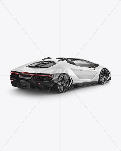 Super Car Mockup - Back Half Side View
