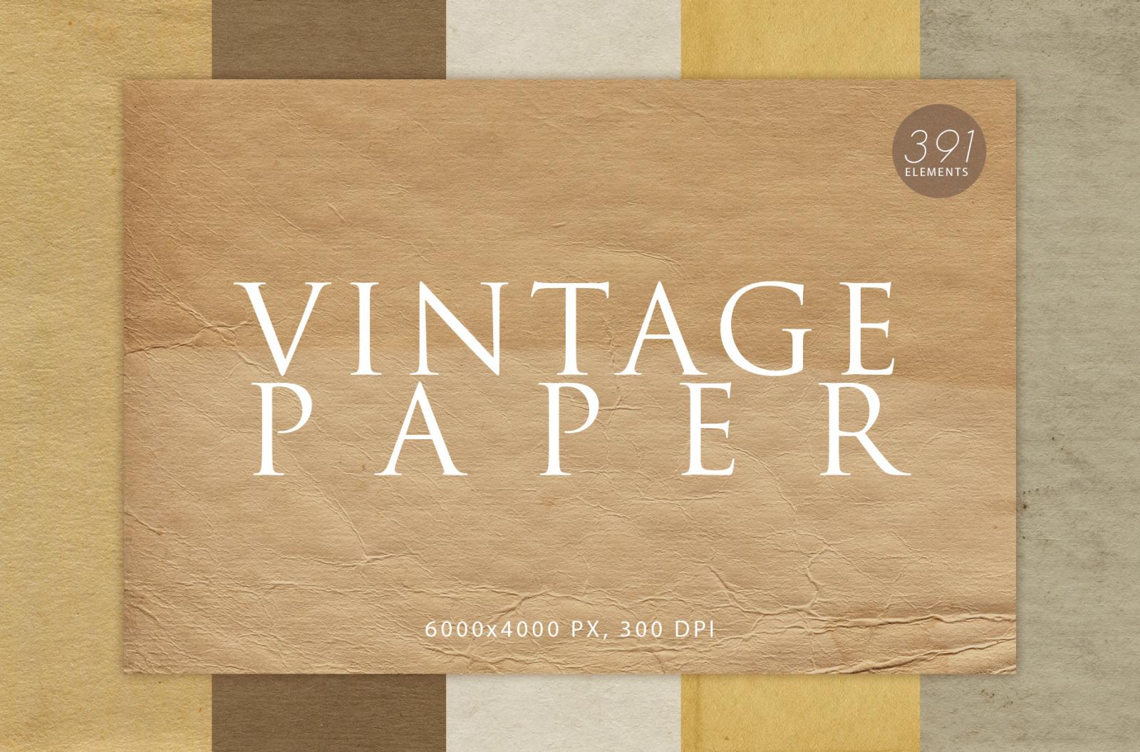 391 Vintage Paper Textures