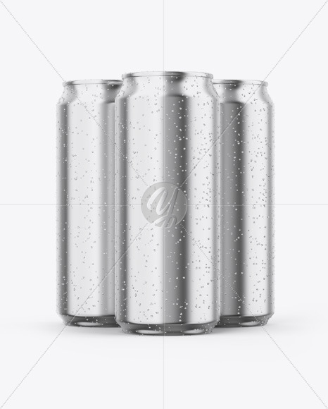 Download Two Glossy Aluminium Cans With Condensation Mockup PSD - Free PSD Mockup Templates