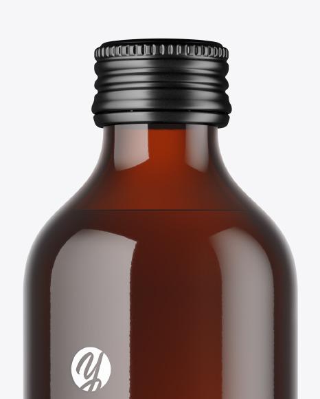 Amber Water Bottle Mockup