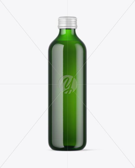 Green Water Bottle Mockup