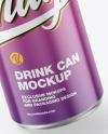 Metallic Can w/ Glossy Finish Mockup