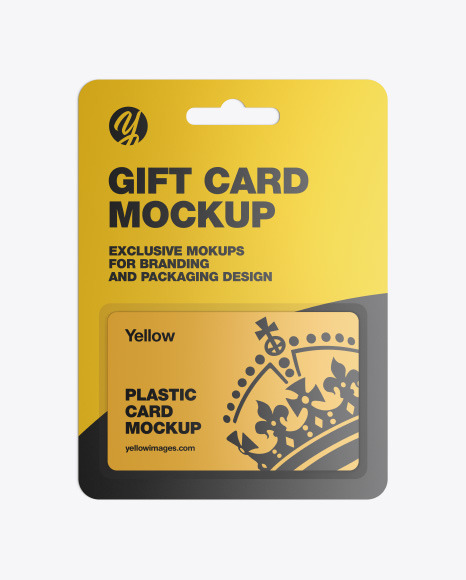 Download Plastic Card Blister Pack Mockup In Stationery Mockups On Yellow Images Object Mockups PSD Mockup Templates