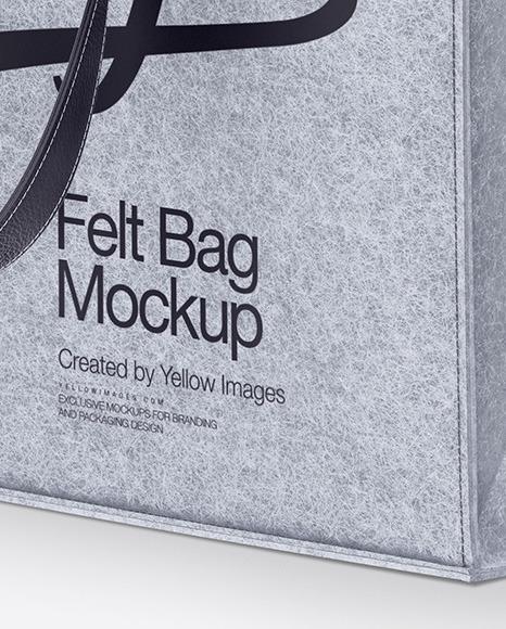 Felt Bag Mockup