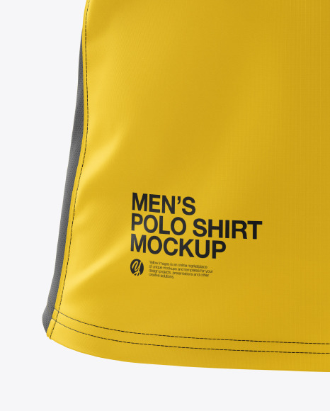 Men's Club Polo Shirt mockup (Front View)