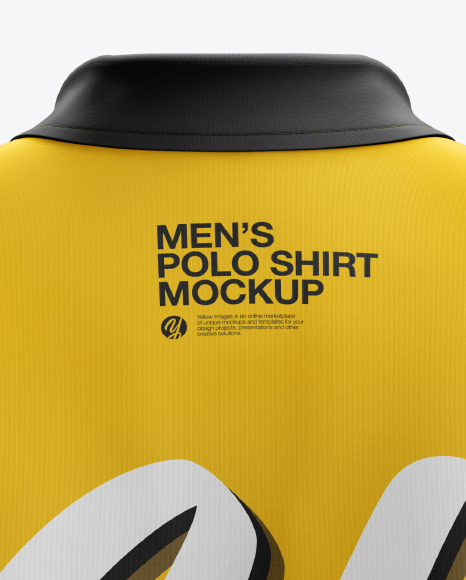 Men's Club Polo Shirt mockup (Back View)