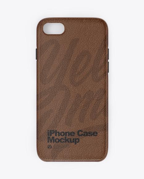 iPhone Leather Case Mockup