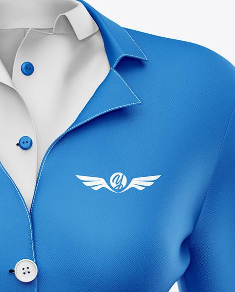 Stewardess Uniform Mockup