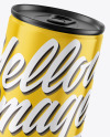Metallic Can w/ Glossy Finish Mockup